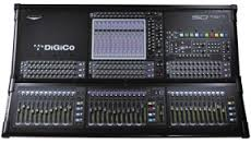 Digico SD10 +flightcase 37 faders versie + sdrack 56/24 met Core2 update